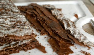 Feuilletage au chocolat : le tourage