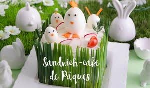 Sandwich-cake de Pâques au saumon fumé