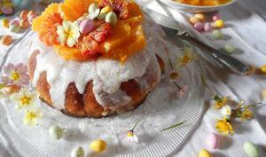 Le savarin nid de Pâques aux oranges