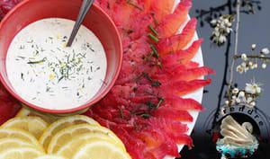 Sauce pour saumon gravlax