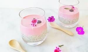 Pudding de chia crème de cajou et fraises