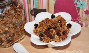Granola croustillant gingembre et cranberries de ma copine Céline