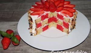 Damier fraise, citron, basilic