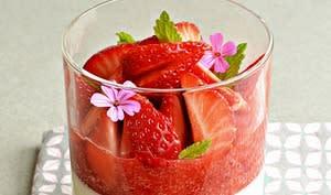 Pana cotta citronnelle, fraises