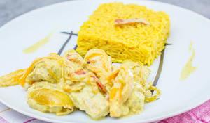 Curry de poisson aux poivrons