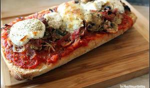 Pizziabatta express au chèvre et aux champignons