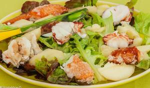 Salade de homard aux pêches