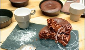 Fondant-coulant healthy chocolat et amandes