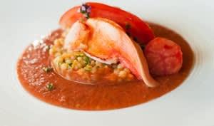 Homard, gaspacho et fregola sarda