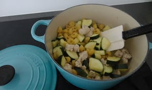 One-Pot-Pasta dinde courgettes