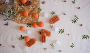 Bâtonnets de glace abricot-verveine