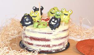 Monstrous red velvet cake