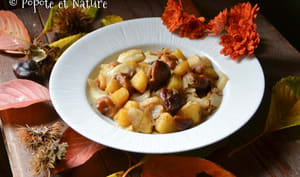 Poêlée aux châtaignes, chou blanc et pommes de terre