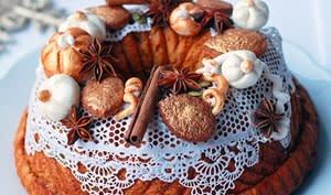 Kouglof revisité vintage de Noël à la citrouille épicée
