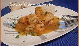 Roulades de filets de limande en sauce homardine