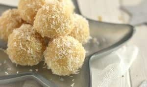 Truffes crues au citron et à la noix de coco