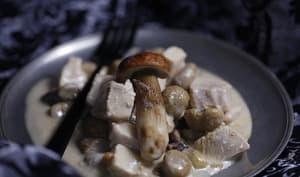 Blanquette de dinde aux marrons et aux champignons