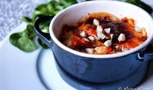 Gratin de patates douces, poires et gorgonzola