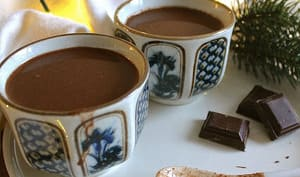 Chocolat chaud au vin rouge