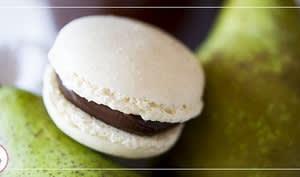 Macarons ganache chocolat poire
