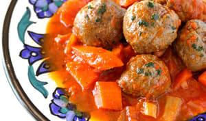 Boulettes de viande sauce aux légumes