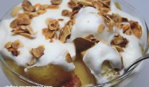 Verrine crème ananas citron et biscuit au limoncello