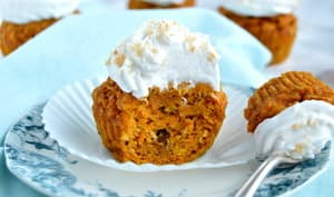 Carrot cake muffins et crème coco
