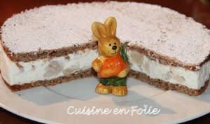 Gâteau ricotta, poires et noisette