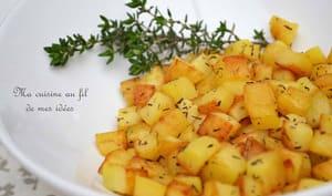 Pommes de terre sautées au thym