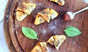 Petits croissants façon pizza