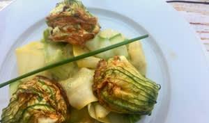 Salade de fleurs de courgettes