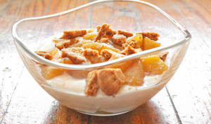 Dessert pommes caramélisées spéculoos
