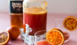 Cocktail orange sanguine et cognac