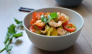 Crevettes sauce aigre-douce