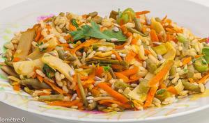 Riz frit aux légumes de saison