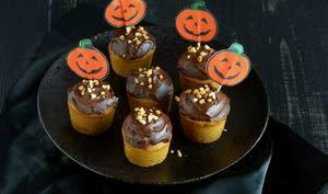 Cupcakes au potiron et au chocolat
