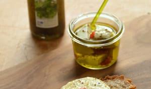 Fromage de chèvre mariné à l'huile d'olive