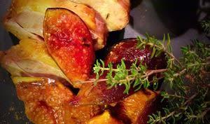 Magrets de canard aux 4 épices et figues rôties