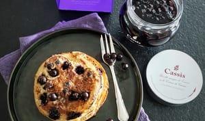 Pancakes à la crème de cassis