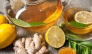 Tisane, gingembre, citron et miel