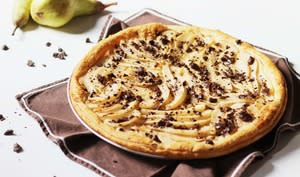 Tarte fine, poire et chocolat