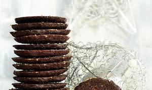 Biscuits cacao, café, clémentine
