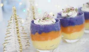 Verrines tricolores de pomme de terre