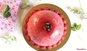 Dome fraise et pistache