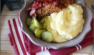 Meat loaf et mashed potatoes