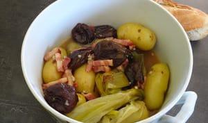 Pommes de terre compotées aux pruneaux