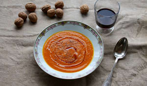Velouté de potimarron à l'huile de noix