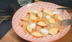 Salade de choucroute et pomme