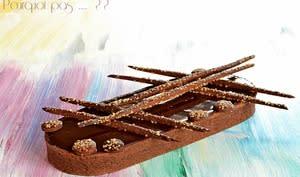 Tart-Ô chocolat, caramel au beurre salé et cacahuètes