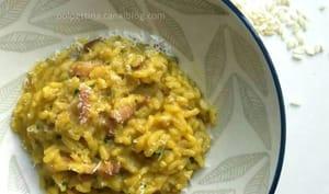 Risotto à la pancetta et aux cèpes